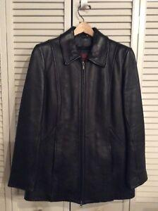 Women's black Danier leather jacket