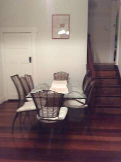 Glass and Iron Dining Table and matching Chairs Cottesloe Cottesloe Area Preview