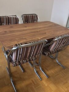 Dining table solid wood with 4 chairs good condition