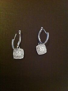 Genuine Stunning Diamond Earrings 9k White Gold Beautiful As New Hampton Bayside Area Preview