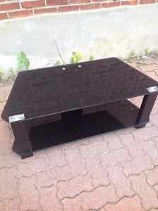 Black glass plasma TV unit