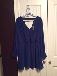 Beautiful long sleeve royal blue dress
