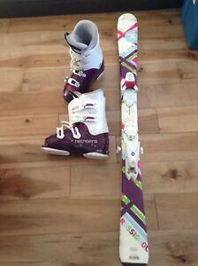 Ski junior 120 et botte 24-24,5
