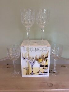 Fifth Avenue, 4-10 oz. Crystal Goblets!  Price:  Please Contact!