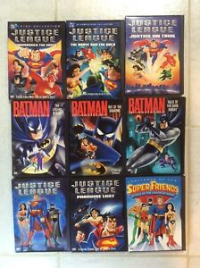 Batman the Animated . Justice League. Super Friends. DVDs.