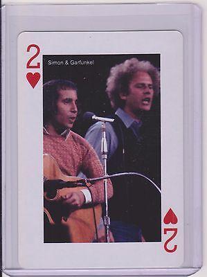Rarest 2005 Worldwide Co  London Simon   Garfunkel Playing Card  Troubled Waters