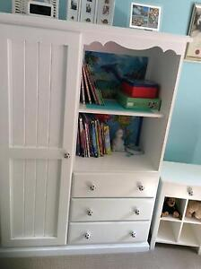 Solid wardrobe painted white with drawers and shelves Little Mountain Caloundra Area Preview