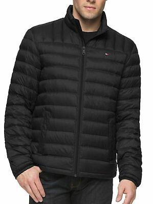 Tommy Hilfiger Mens Jacket Black Size Small S Puffer Full-Zip Mock-Neck $164 412