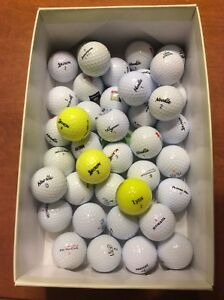 40 balles de golf usagées assorties