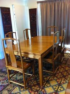 Beautiful Chinese dining table and 6 chairs Virginia Brisbane North East Preview