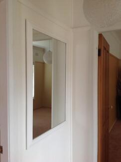 Large white vintage style mirror Revesby Bankstown Area Preview