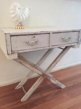 VINTAGE RUSTIC SHABBY BEDSIDE/SIDE TABLE W/2 DRAWERS Seaforth Manly Area Preview