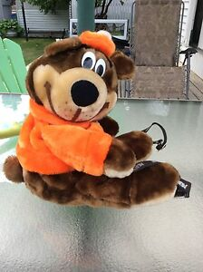 Vintage 1980's A&W Rootbeer bear backpack. New never used