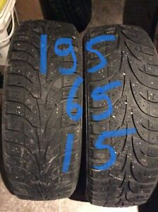 195/65R15 WINTERCLAWS  91T winter tires 2  450-639-1839 text pls