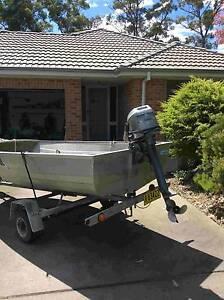 Savage Dolphin tinny, Mariner 8hp long shaft motor and trailer Sunshine Bay Eurobodalla Area Preview
