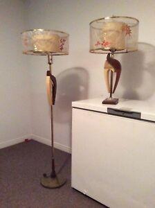 Lampes de table et sur pied style vintage