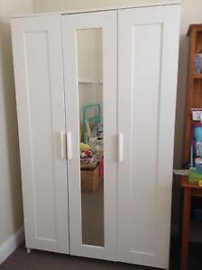 White IKEA wardrobe with mirror Georgetown Newcastle Area Preview