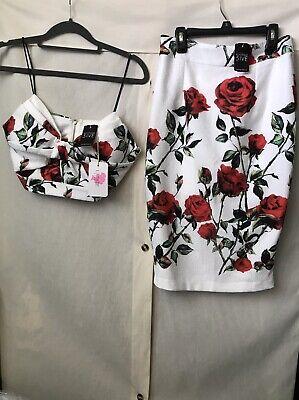AGACI TOP & PENCIL SKIRT FLORAL DRESS SET. (SMALL)NEW!READ FULL DESCRIPTION !!! - Full Skirt Set