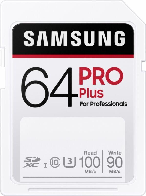 Samsung - PRO Plus SDXC Full size SD Card 64GB