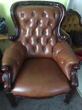 Classic French style leather lounge Glendenning Blacktown Area Preview