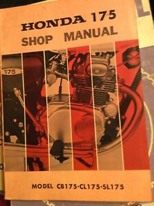1971 Honda  CB175 CL175 SL175 Shop Manual