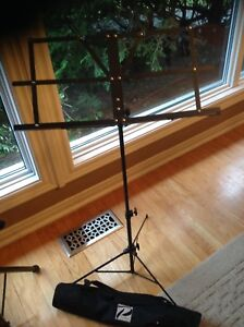 Two folding  Music Stand one Brand New with case $30