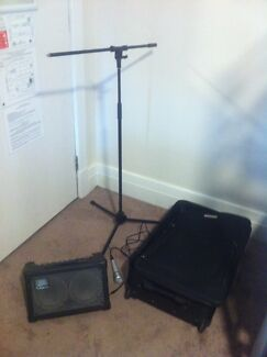 Roland Amp, microphone, Micstand, Suitcase for Sale (Repair Amp)