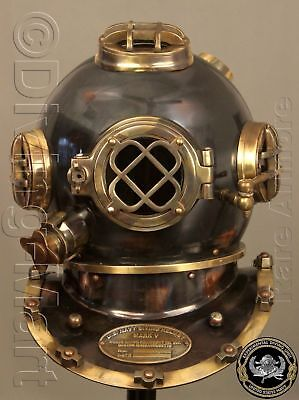 "Antique Scuba 18"" Diving Helmet U.S Navy Mark V Vintage Divers Helmet Replica GF"
