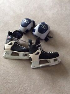Hockey Skates and Elbow Pads