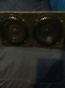 "Two 10"" Blue thunder subs"