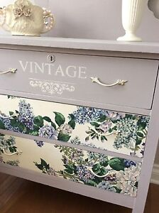 Beautifully refinished Vintage dresser & matching chair