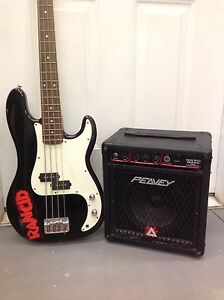 Fender Squire Base Guitar w/ Amp