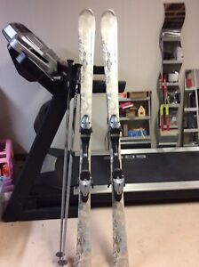Skis and  poles for adults ladies 165