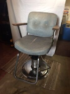 Older style barber chair