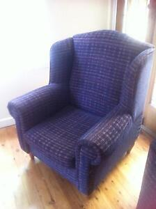 PAIR WING ARM CHAIRS + OTTOMAN Wyong Wyong Area Preview