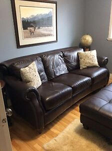 Leather Couch and Bench
