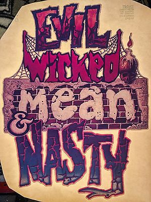 70's Party Rock Evil Metal Scary Halloween Monsters vTg t-shirt iron-on Transfer - 70s Halloween Party