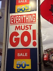 Store closing everything must go