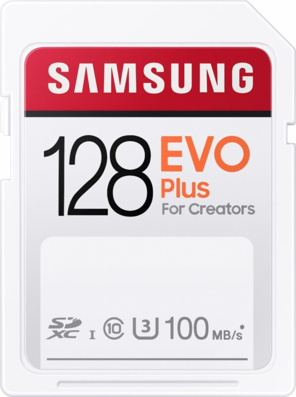 Samsung - EVO Plus SDXC Full size SD Card 128GB (MB-SC128H)