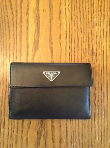 100% Authentic Black Saffiano Leather Prada Wallet in St Thomas