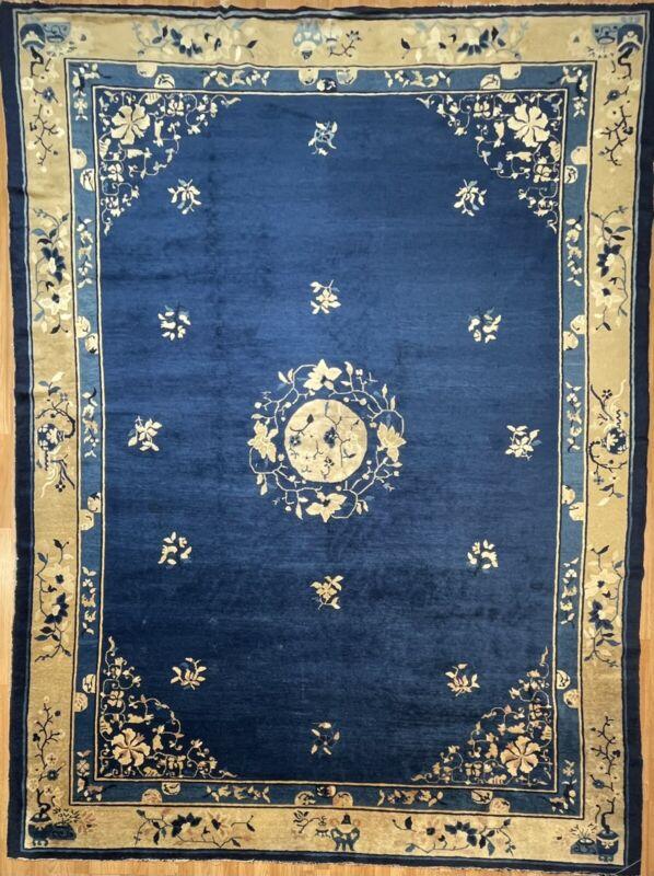 Captivating Chinese - 1890s Antique Peking Rug - Oriental Carpet - 8.10 X 11.3