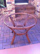 Cane resortware round dining table with matching chairs Tarragindi Brisbane South West Preview