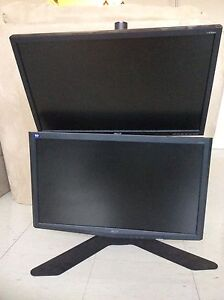 Vertical Monitor Stand w/ 2x 23 monitors