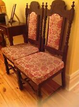 Antique style tapestry upholstered chairs Grange Charles Sturt Area Preview