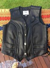 Leather Black Womens adjustable Vest Richmond Hawkesbury Area Preview