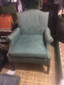 Vintage green chair