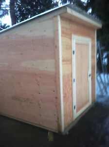 Garden and storage shed.