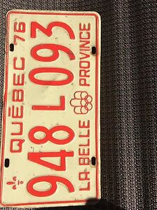 Quebec Olympic license plate
