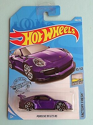 Hot Wheels 2019. Porsche 911 GT3 RS. New Collectable Toy Model Car. Long Card.