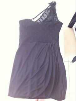 FOREVER NEW BLACK DRESS SIZE 10 WOMENS ONE SHOULDER LBD Ascot Brisbane North East Preview